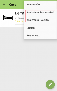Assinatura do executor