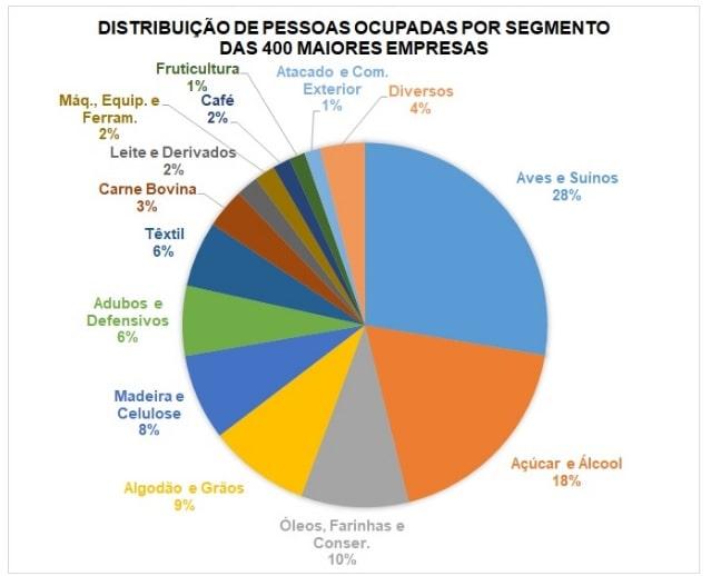 Distribuição de pessoas ocupadas por segmento das 400 maiores empresas-min