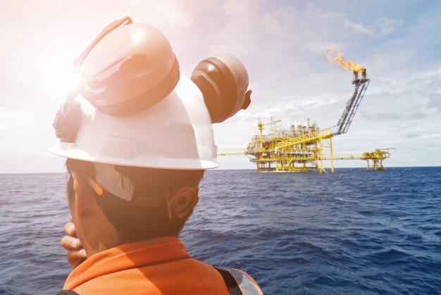trabalhador de plataforma de petróleo