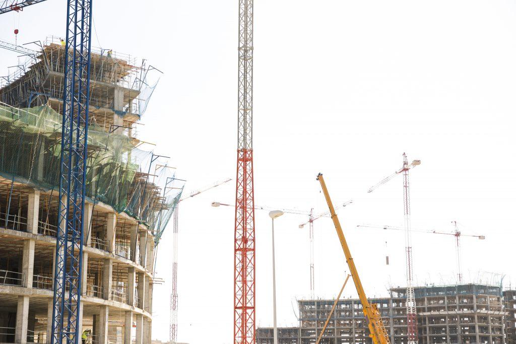 Contrução com EPC's contra quedas