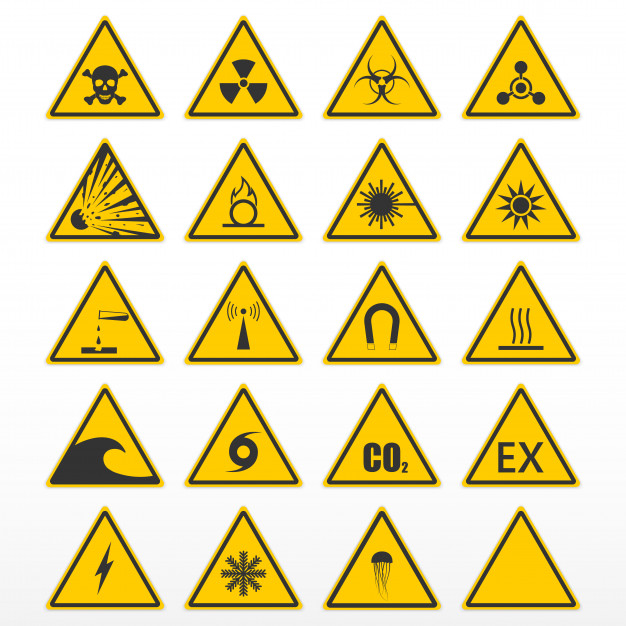 sinalização de aviso