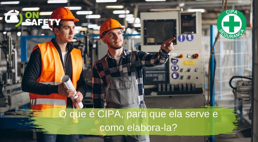 dois trabalhadores usando epi e conversando